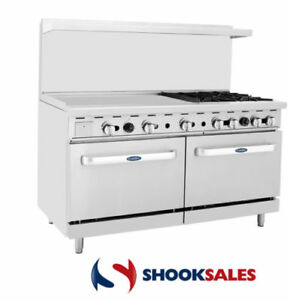 Atosa Ato 36g4b 60 Propane Gas Range 4 Open Burners And 36 Griddle