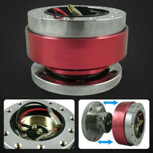 Universal Quick Release Kit Of 6 Hole Racing Steer Wheel 6 Bolt Ball Bearing Red