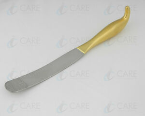 Breast Dissector Spatula 32 Cm Gold Plated Care Breast Dissecting Spatula