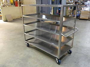 Jamco Xe360 Stainless Steel 5 shelf Utility Cart 1800 Lb Capacity 60 x 60