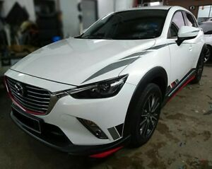 For Mazda Cx3 Cx 3 Front Rear Lips Aero Body Kit Painted