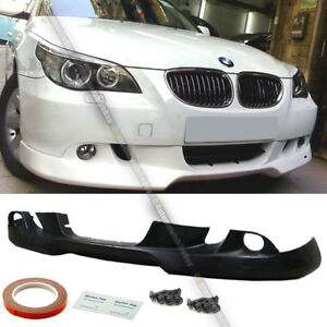 Fit 05 07 E60 5 series Unpainted Pu Ac s Style Front Bumper Lip Body Kit