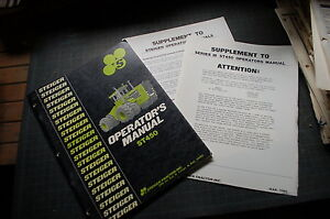 Steiger Tractor St450 Owner Operator Operation Maintenance Parts Manual Book