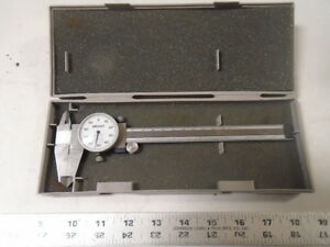 Machinist Tools Lathe Mill Machinist Mitutoyo Dial Caliper Gage In Case