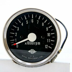 Mechanical Scooter Tachometer 12000 Rpm By Royal Technologies Nos