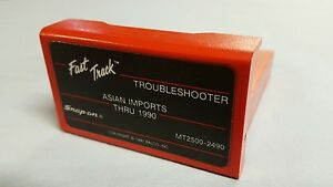 Snap On Troubleshooter Cartridge Asian Imports Thru 1990 Mt2500 2490