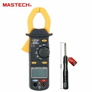 Mastech Ms2002 Digital Clamp Meter Multimeter Ac Current Resistance Measurement