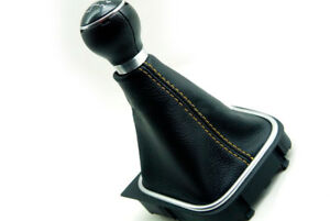 Shift Boot Synthetic Leather For Vw Jetta Vento Bora 05 12 Beige Stitch Manual