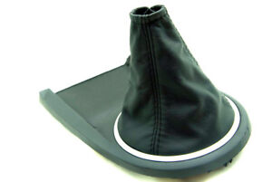 Manual Shift Boot Cover Leather Synthetic For Hyundai Tiburon 2003 2008 Black
