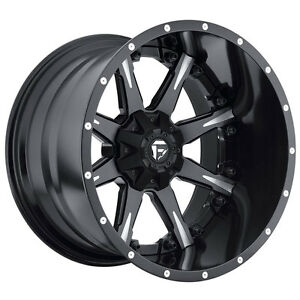 Fuel Nutz Rim 20x10 6x135 6x5 5 Offset 19 Black milled qty Of 4