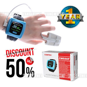 Fda ce Cms50f Wrist Pulse Oximeter 65k Color Oled Display include Free Probes