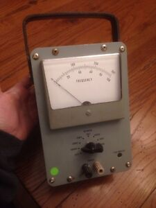 Vintage Portable Frequency Meter