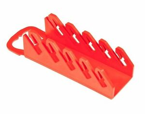 Ernst 5070 5 Tool Gripper Stubby Wrench Organizer Red