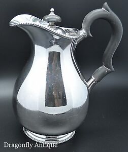 Antique Silver Plated Coffee Pot Hot Water Coffee Pot Circa 1890