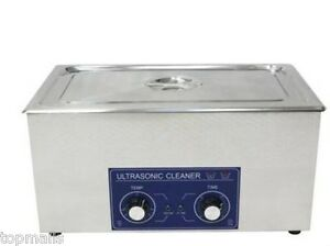 22l Ultrasonic Cleaner Heater Free Basket Jewelry Watches Dental Tattoo 480w