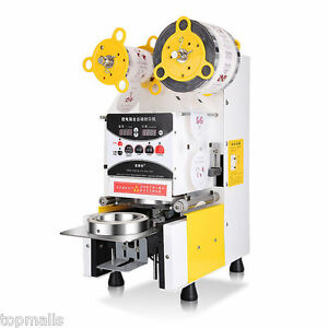 New Full Automatic Bubble Tea Cup Sealing Machine Fruit Juice Cup Sealer 220v