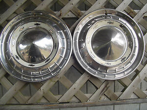 1955 Chevrolet Chevy Belair Nomad Bel Air Hubcaps Wheel Covers Antique Vintage