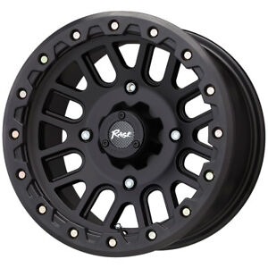 Set 4 14x7 4 3 4x110 Rage Atv One One Black Wheels Rims 14 Inch 46738