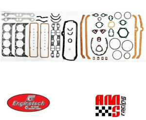 Full Engine Performance Gasket Set For Chevrolet 5 7l 350 383 W 2 Pc Rear Seal