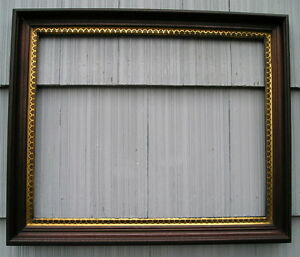 Antique Aesthetic Eastlake Victorian Unusual Gilt Large Deep Picture Frame 19 24