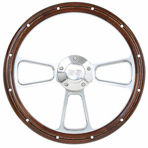 1967 68 Chevelle Billet Steering Wheel Mahogany W ss Horn Button Full Boss Kit