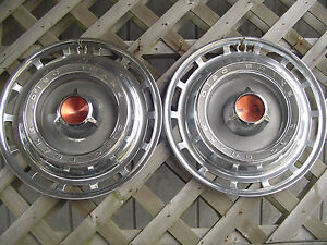 1966 66 Dodge Chrysler Plymouth 15 In Hubcaps Wheel Cover Center Cap Antique