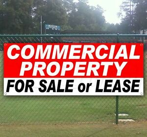 Commercial Property Sale Or Lease Advertising Vinyl Banner Flag Sign Usa