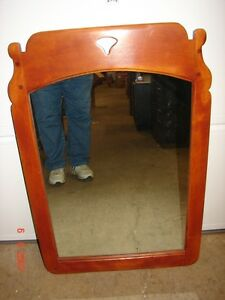 Vintage 1950 S Cushman Colonial Creations Maple Wall Mirror Bennington Vt