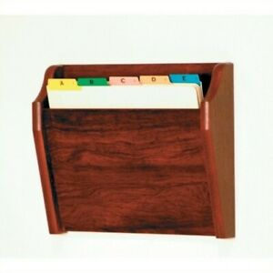 Wooden Mallet Chart Holder With Tapered Bottom In Mahogany File Pocket