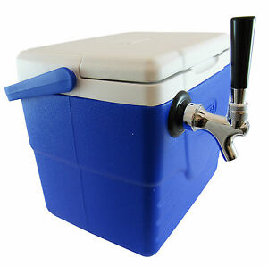 Single Tap Beer Jockey Box 9 Qt Picnic Cooler 1x50 High Efficiency Coil
