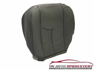 2005 2006 Chevy Silverado Lt Driver Bottom Leather Seat Cover Dk gray Pattern