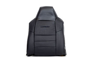 05 Ford F250 Lariat Driver Lean Back Leather Seat Cover With Lariat Logo Black
