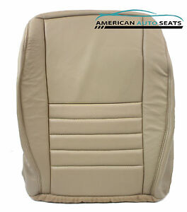 99 04 Ford Mustang Gt V8 Coupe Driver Bottom Perforated Leather Seat Cover Tan