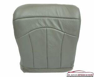 1999 Ford F150 Lariat Heated Power Seat Driver Bottom Leather Seat Cover Gray