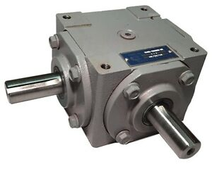 40 Hp Right Angle Bevel Gearbox With 2 Keyed Shafts Cw ccw 1 1