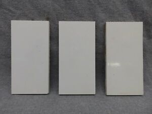 Set Of 3 Antique Subway Tile Circa 1880 3x6 Thick Vintage 340 17r