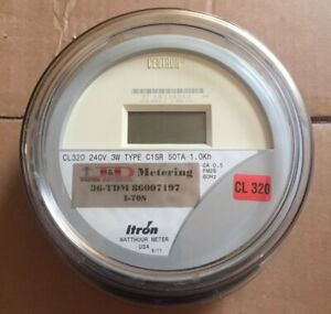 Itron Watthour Meter kwh C1sr Centron 240 Volts Fm2s 320 Amps 4 Lugs