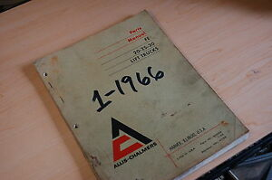 Allis Chalmers Fe 20 25 30 Forklift Truck Parts Manual Book Catalog Spare List