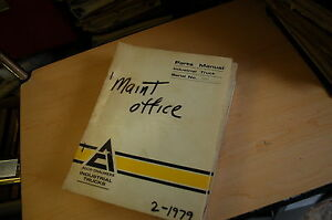 Allis Chalmers Electronic Forklift Truck Parts Manual Book Catalog Cushion List