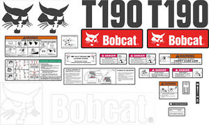 Bobcat T190 Decal Kit With Controls The Most Complete Aftermarket Kit Available