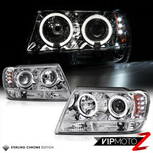 For 99 04 Jeep Grand Cherokee Wj Wg Laredo Limited Halo Led Projector Headlights
