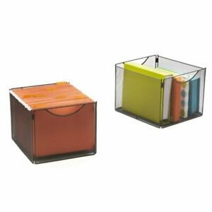 Safco Onyx Mesh Cube Bin Organizer Set In Black set Of 2