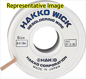 3pcs Desoldering Wire Hakko Wick 2 0mmx30m 87 3 30 Hakko Made In Japan