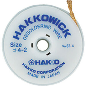 10pcs Desoldering Wire Hakko Wick 2 5mmx2m 87 4 Hakko Made In Japan