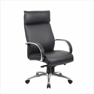 Boss Office High Back Executive Chair In Black With Knee Tilt
