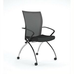 Mayline Valore High back Guest Chair In Black set Of 2