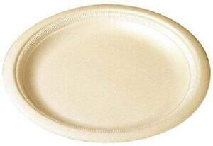 Solo Rs105y 0019 Polystyrene Laminated Foam Plate 10 25 Champagne 500ct