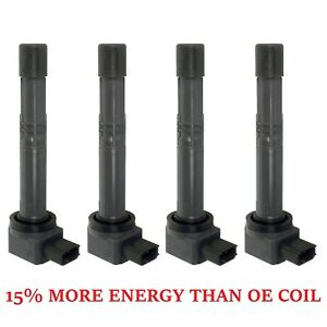 New Set Of 4 Ignition Coils On Plug Coils Pack For Honda Accord Civic