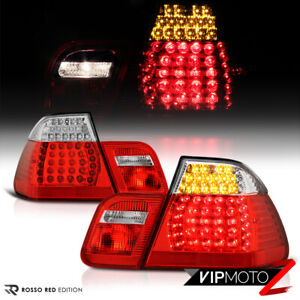 2002 2005 Bmw E46 3 Series 325 330 Sedan Factory Red Led Tail Lights Lamp Pair