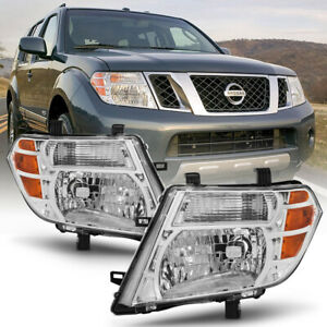 For 2008 2012 Nissan Pathfinder factory Style Off road Head Lights Lamps Set